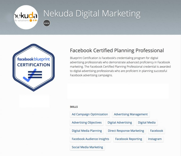 Certified Partners Nekuda Web Solutions