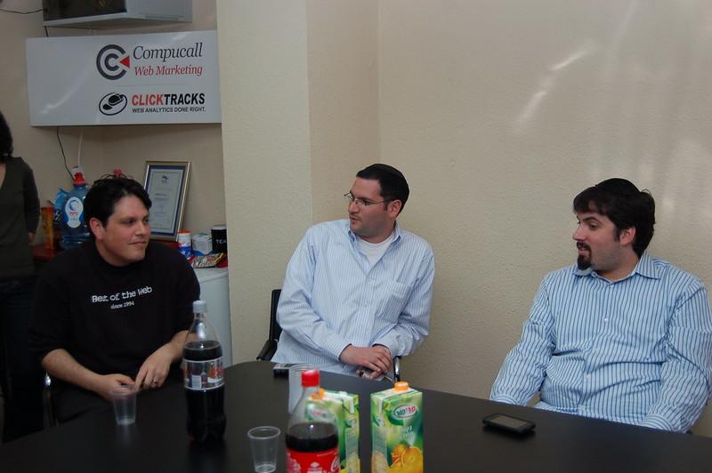 Gilad Sasson, Mayer Reich & Barry Schwartz at SEM Meetup Tel Aviv, Israel credit: flickr.com/photos/rustybrick