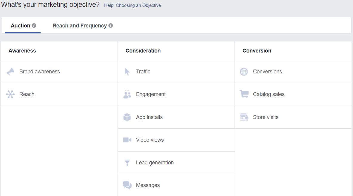 ניהול קמפיין פייסבוק - מטרות
