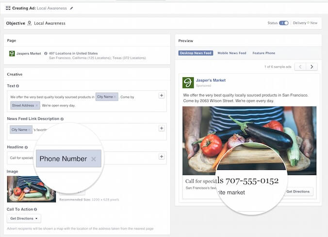 מודעות לקידום לוקאלי בפייסבוק