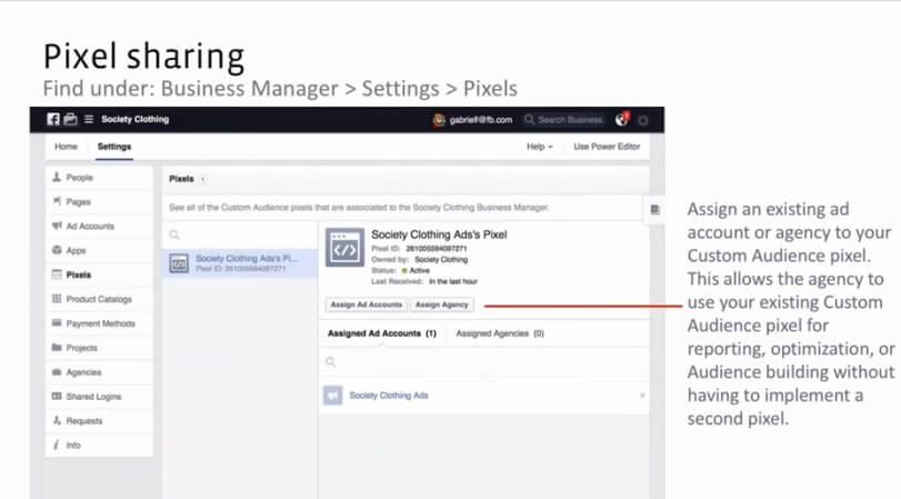 שיתוף פיקסל פייסבוק