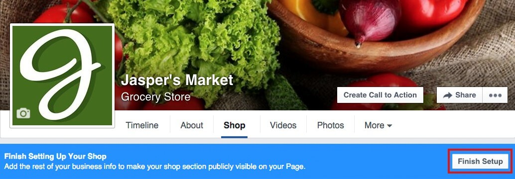 חנות בפייסבוק