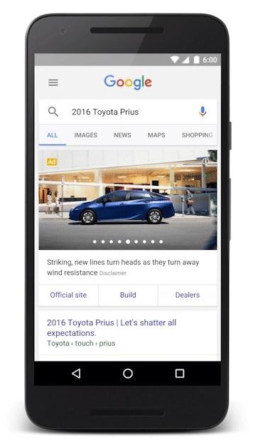 מודעות גוגל לפרסום מכוניות