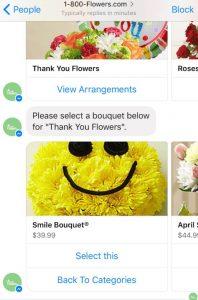פייסבוק בוט - 1800flowers