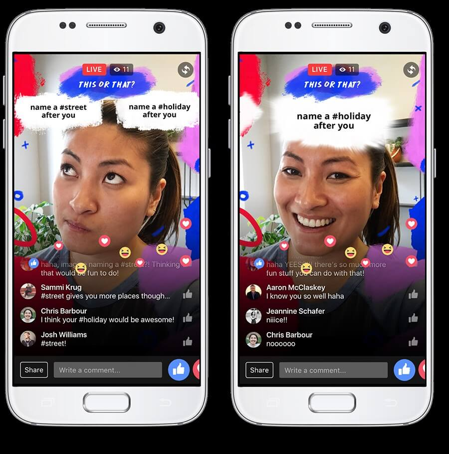 אפקטים לפייסבוק לייב - F8