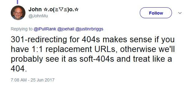 301 או 404 לפי גוגל