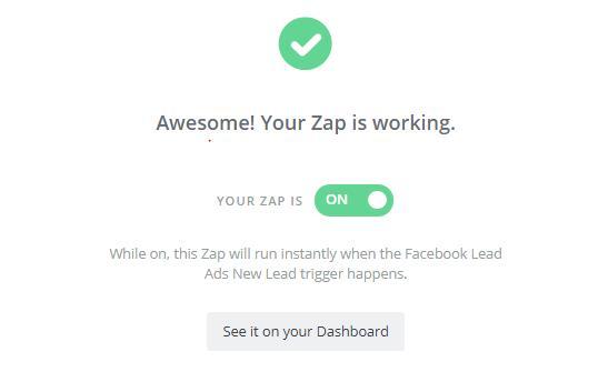 הפעלת Zap