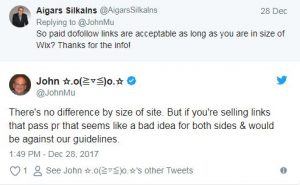 ג'ון מולר: גוגל תעניש אתרים שימכרו או ירכשו קישורים