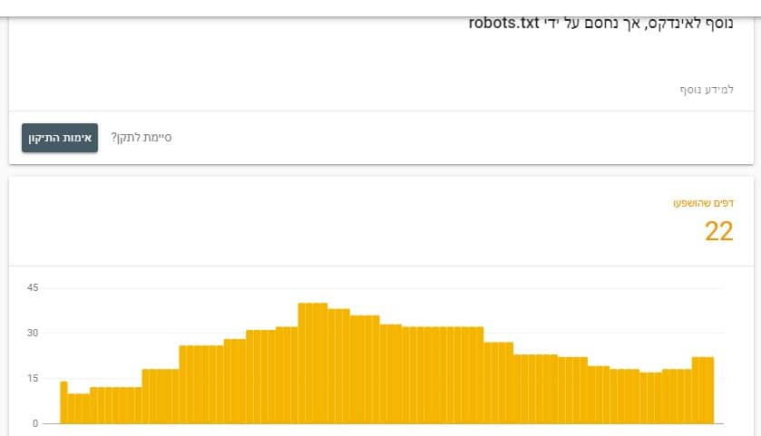 דוח שגיאות robots.txt