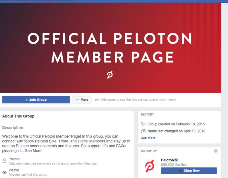 קבוצת פייסבוק PELOTON
